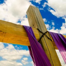 wood-cross-with-purple-sash